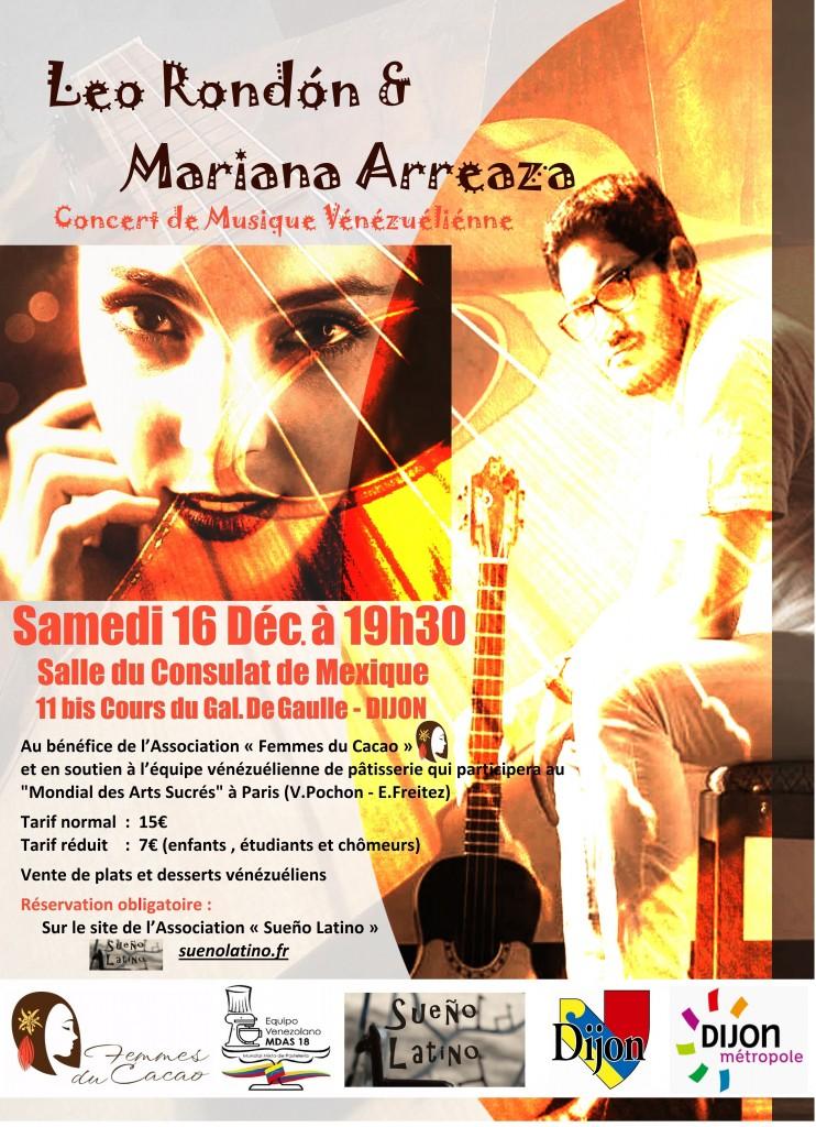 affiche concert Leo Mariana 16 12 2017